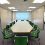 Seminar Rooms, Tables, Chairs, Projector, Screens